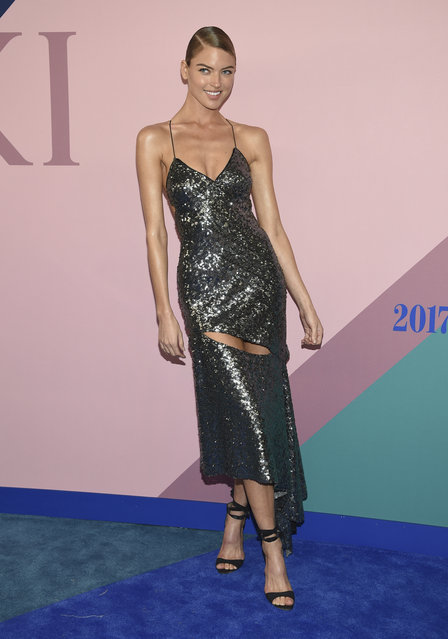 Martha Hunt attends the CFDA Fashion Awards at the Hammerstein Ballroom on Monday, June 5, 2017, in New York. (Photo by Evan Agostini/Invision/AP Photo)