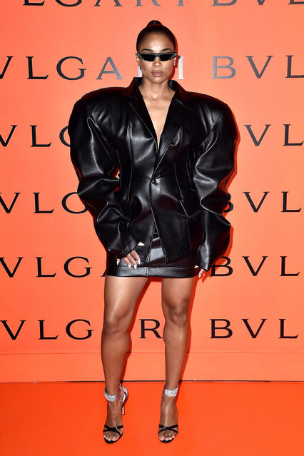 Ciara attends the Bvlgari B.zero1 Rock collection event at Duggal Greenhouse on February 06, 2020 in Brooklyn, New York. (Photo by Steven Ferdman/Getty Images)