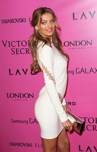 Model Bregje Heinen attends Samsung Galaxy features arrivals at the official Victoria's Secret fashion show after party on November 7, 2012 in New York City. (Photo by Slaven Vlasic)