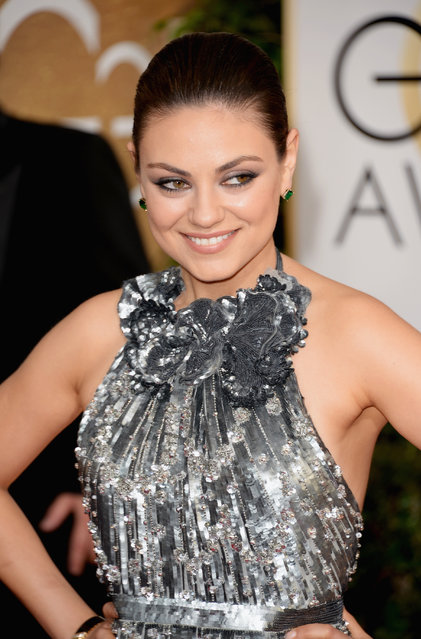 Actress Mila Kunis attends the 71st Annual Golden Globe Awards held at The Beverly Hilton Hotel on January 12, 2014 in Beverly Hills, California. Actress Mila Kunis won the title in 2012. (Photo by Jason Merritt/Getty Images)
