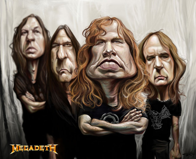 Rock Caricature By Sebastian Cast