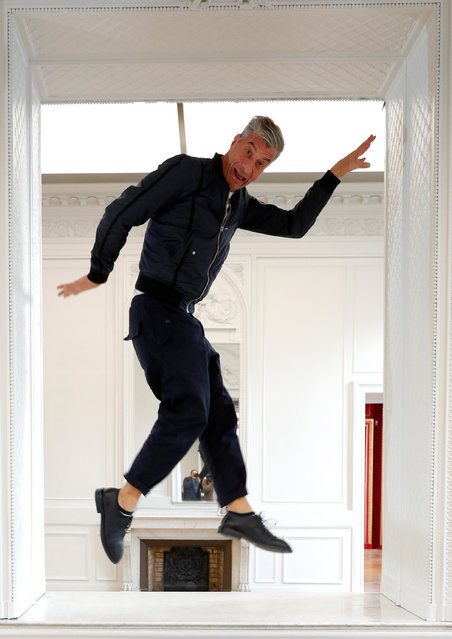 "Italian artist Maurizio Cattelan poses prior to the opening of the exhibition ""Not Afraid of Love"" at the Hotel de la Monnaie in Paris, France, October 17, 2016. (Photo by Philippe Wojazer/Reuters)"