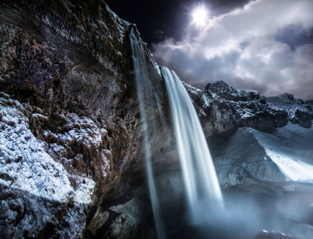 A mesmerising waterfall in the Icelandic country-side. (Photo by Arnar Kristjansson/Caters News)