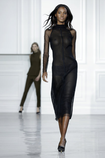 The Jason Wu Fall 2015 collection is modeled during Fashion Week in New York, Friday, February 13, 2015. (Photo by Richard Drew/AP Photo)