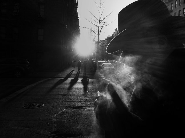"""Smoke & Shadows"". Inwood, New York City, 2012. (Photo by Sion Fullana)"