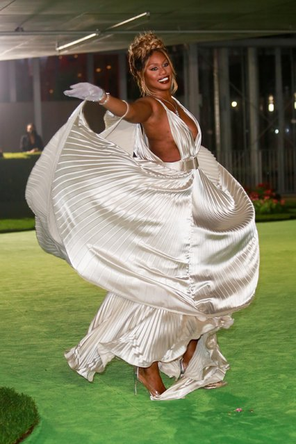 American actress and LGBT advocate Laverne Cox attends the Academy Museum of Motion Pictures gala in Los Angeles, California, U.S., September 25, 2021. (Photo by Ringo Chiu/Reuters)