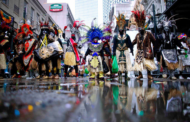 Members of the Krewe of Zulu parade down St. Charles Avenue on Mardi Gras Day in New Orleans, Louisiana March 4, 2014. (Photo by Jonathan Bachman/Reuters)