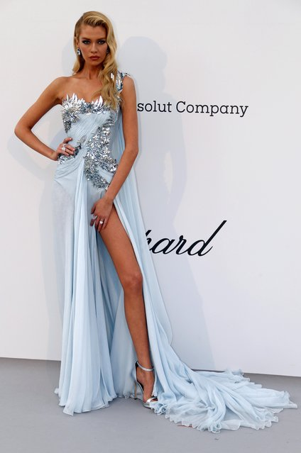 Stella Maxwell poses for photographers upon arrival at the amfAR, Cinema Against AIDS, benefit at the Hotel du Cap-Eden-Roc, during the 72nd international Cannes film festival, in Cap d'Antibes, southern France, Thursday, May 23, 2019. (Photo by Eric Gaillard/Reuters)