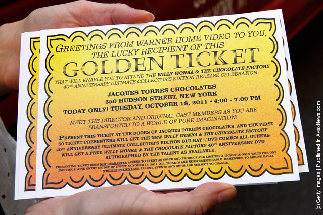 Oompa Loompas hands out Golden Tickets for the 40th Anniversary of Willy Wonka & The Chocolate Factory