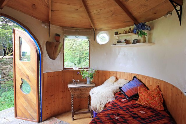 The Love Shack is a tiny little work of art that you could live in while also being completely transportable after being built on its own trailer. (Photo by Cuprinol/Rex Features/Shutterstock)