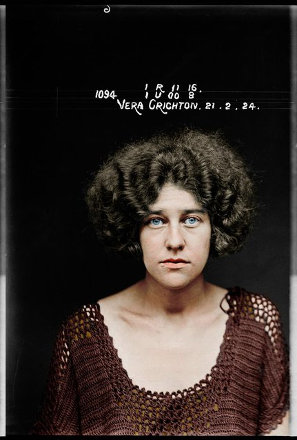Vera Crichton at the Sydney Women's Reformatory in 1924. Was arrested after being caught conspiring to procure a miscarriage. (Photo by My Colorful Past/Mediadrumworld)