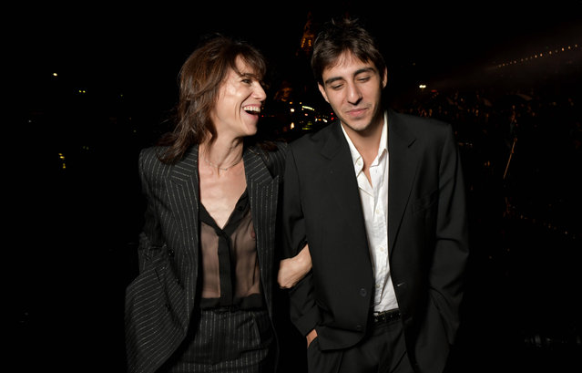 English-French actress Charlotte Gainsbourg and her son Ben Attal attend the Saint Laurent Womenswear Spring/Summer 2020 show as part of Paris Fashion Week on September 24, 2019 in Paris, France. (Photo by Swan Gallet/WWD/Rex Features/Shutterstock)