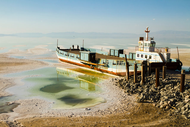 "Pedram Yazdani wins the Forestry Commission England people, nature and economy Award 2016 for his arresting work ""Sand"". ""The Salt Lake Urmia could be a symbol of what will happen soon to Iran – it is going to be dried out"", explains Yazdani. ""The biggest salt lake in the Middle East, it now contains only 10% of the original amount of water, as a result both of climate change, and of dam and well construction"". (Photo by Pedram Yazdani/2016 EPOTY)"