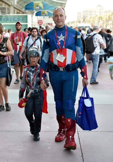 Guests attend Day 1 of Comic-Con International 2014 on July 24, 2014 in San Diego, California. (Photo by Frazer Harrison/Getty Images)