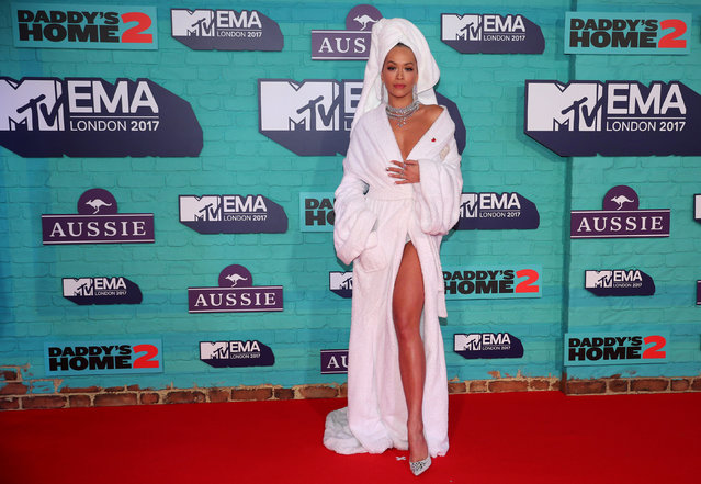 British singer Rita Ora arrives at the 2017 MTV Europe Music Awards at Wembley Arena in London, Britain, November 12, 2017. (Photo by Hannah McKay/Reuters)