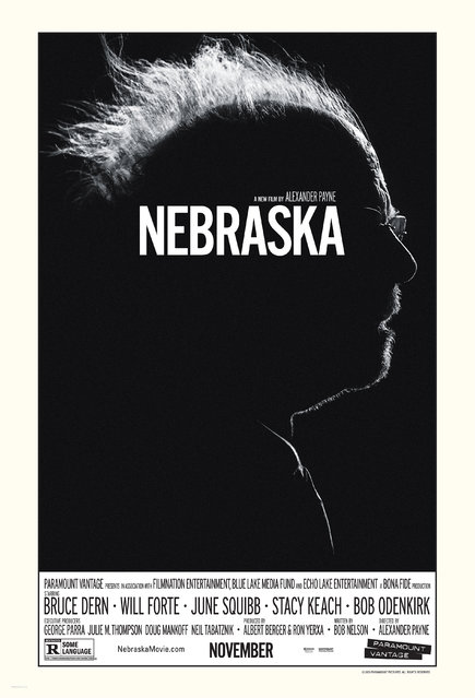 """Key Art"" refers to an illustration, photograph, graphic or title treatment on which a film's marketing materials are based, taking center stage on the film's poster, newspaper ads, and lobby displays, such as this high-contrast image of actor Bruce Dern for Alexander Payne's ""Nebraska"". Finalist in the Theatrical Domestic One-Sheet category. Design: BLT Communications, LLC, Hollywood. (Photo by Key Art Awards 2014)"