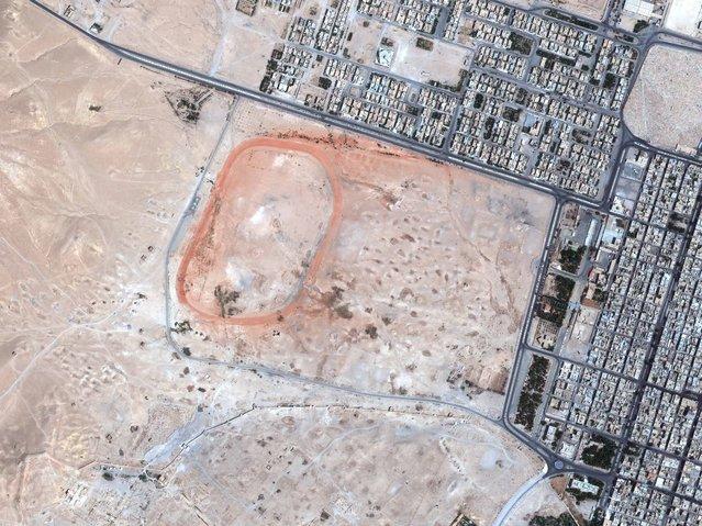 Palmyra, Syria. (Photo by DigitalGlobe/Caters News)