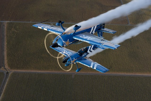 Air National Guard takes to the skies at the California Capital Airshow, on Sat., October 3, 2015 in Sacramento, Calif. (Photo by Peter Barreras/Invision for John Klatt Airshows, Inc./AP Images)