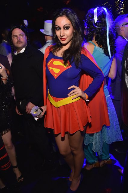 Guest attends Moto X presents Heidi Klum's 15th Annual Halloween Party sponsored by SVEDKA Vodka at TAO Downtown on October 31, 2014 in New York City. (Photo by Mike Coppola/Getty Images for Heidi Klum)