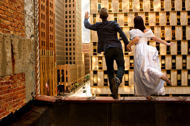 """""""Jumpology"""". """"Take This Leap With Me?"""". (Photo by Rob Woodcox)"""