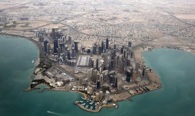 An aerial view shows the diplomatic area of Doha, Qatar. (Photo by Fadi Al-Assaad/Reuters)