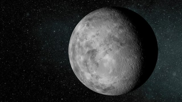 An artist's conception of the tiny new planet Kepler-37b, which is slightly larger than Earth's moon and orbits its host star every 13 days, in this image released by NASA, February 20, 2013. It likely has a surface temperature of in excess of 400C (700F). Astronomers don't think the tiny planet has an atmosphere or could support life as we know it, but the moon-size world is almost certainly rocky in composition. (Photo by NASA/Reuters/Ames/JPL-Caltech/Handout)