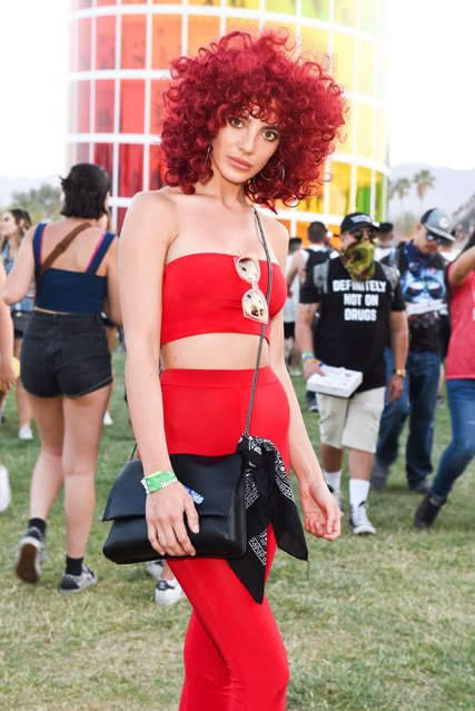 Festivalgoer attends the 2018 Coachella Valley Music And Arts Festival Weekend 1 at the Empire Polo Field on April 14, 2018 in Indio, California. (Photo by Frazer Harrison/Getty Images for Coachella)