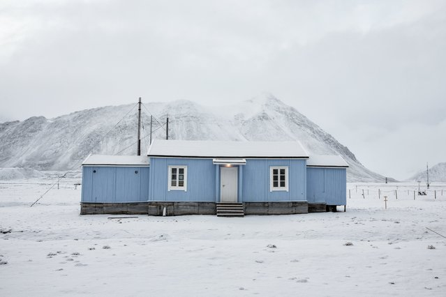 The old radio station for the mining town which is now a telegraph museum in Ny-Alesund Svalbard, Norway, October 13, 2015. (Photo by Anna Filipova/Reuters)