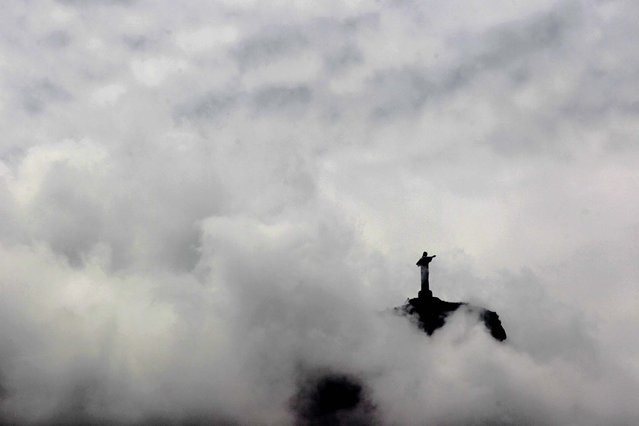 The Christ the Redeemer statue is seen on March 20, 2011. (Photo by Pablo Martinez Monsivais/Associated Press)