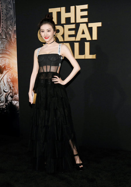 """Cast member Jing Tian poses at the premiere of """"The Great Wall"""" in Los Angeles, California U.S., February 15, 2017. (Photo by Mario Anzuoni/Reuters)"""