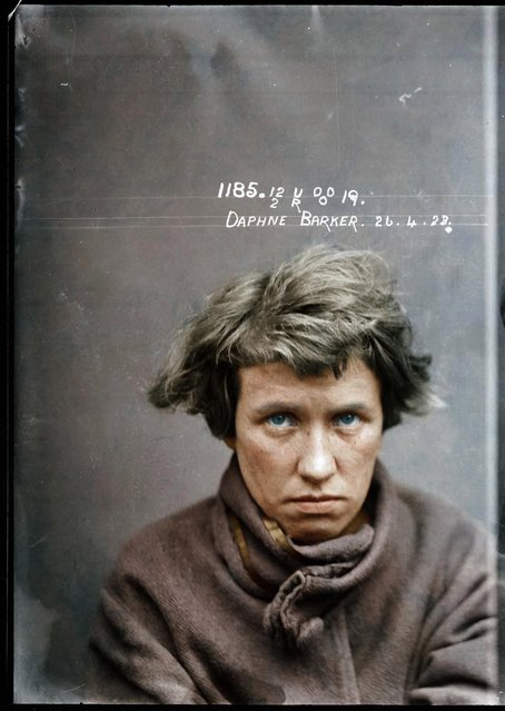 Daphne Barker, 26 April 1923, probably at the Central Police Station, Sydney. Details unknown. (Photo by My Colorful Past/Mediadrumworld)