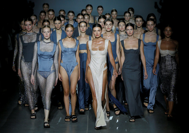 Models present creations by Ukrainian designer Elvira Gasanova during Ukrainian Fashion Week in Kiev, Ukraine on August 31, 2019. (Photo by Valentyn Ogirenko/Reuters)