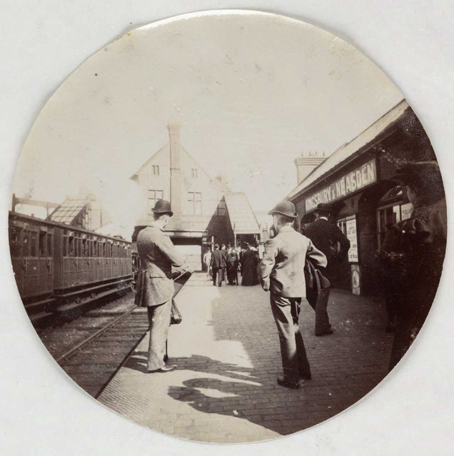 Kingsbury and Neasden station, about 1890. (Photo by Collection of National Media Museum/Kodak Museum)