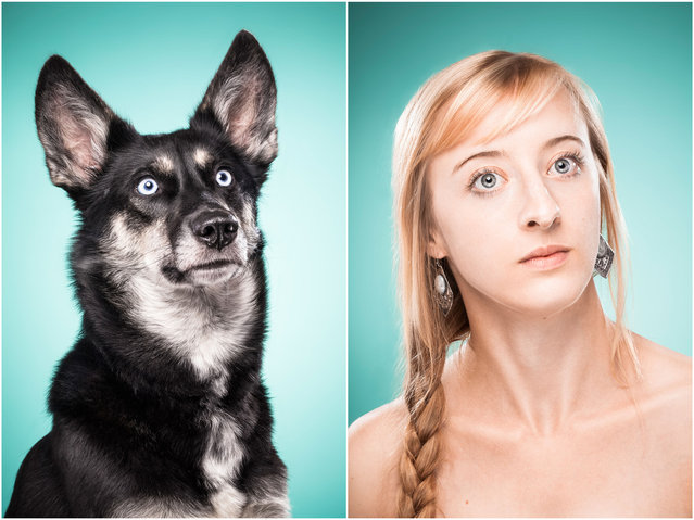 Amina and Zazou the dog. (Photo by Ines Opifanti/Caters News)