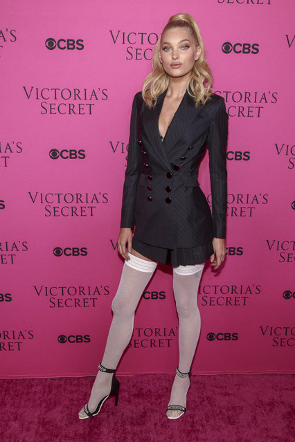 Elsa Hosk attends the Victoria's Secret fashion show viewing party at Spring Studios on Tuesday, November 28, 2017, in New York. (Photo by Andy Kropa/Invision/AP Photo)