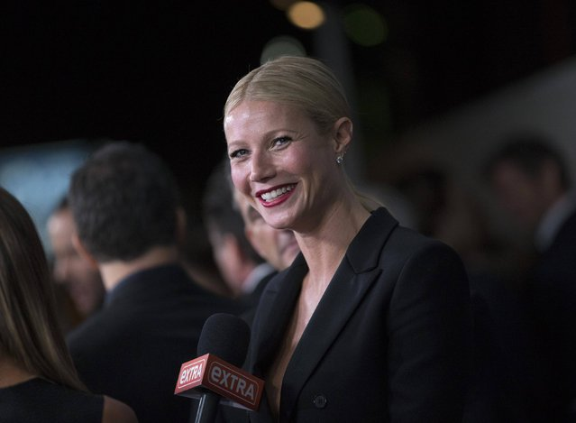 Actress Gwyneth Paltrow is interviewed at the amfAR's fifth annual Inspiration Gala in Los Angeles, California October 29, 2014. (Photo by Mario Anzuoni/Reuters)
