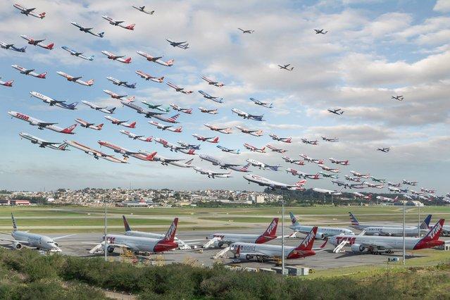 São Paulo Guarulhos International Airport in Brazil. (Photo by Mike Kelley/SWINS)