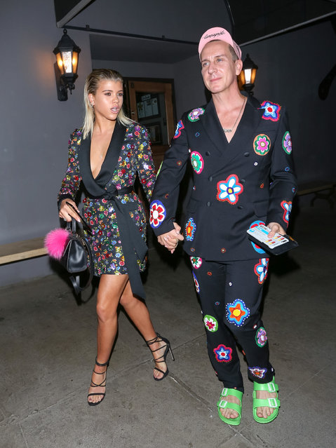 Sofia Richie and Jeremy Scott are seen on October 24, 2016 in Los Angeles, California. (Photo by wowcelebritytv/Bauer-Griffin/GC Images)