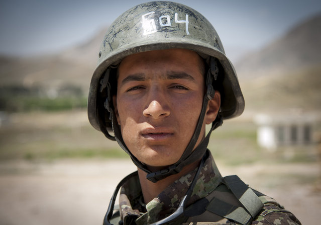 Moha Zakir, a trainee at the Afghan National Army commando school at Camp Moorehead. (Photo by Staff Sgt. Dustin Payne/USAF)