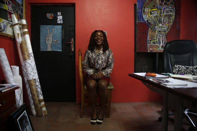 "Brand Director of African Artists Foundation, Wunika Mukan, 31, sits for a portrait in her office in Nigeria's commercial capital Lagos February 10, 2015. ""We are on the verge of something great however I feel that we have to get through the storm to get there. Our biggest challenge is corruption and lack of sophistication and leaders that don't necessarily see the whole picture. (Photo by Akintunde Akinleye/Reuters)"
