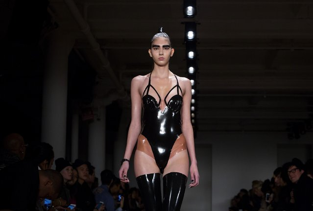 A model presents a creation from the Chromat Fall/Winter 2015 collection during New York Fashion Week February 13, 2015. (Photo by Eric Thayer/Reuters)