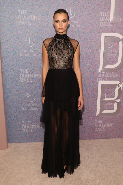 Josephine Skriver attends the 2018 Diamond Ball at Cipriani Wall Street on September 13, 2018 in New York City. (Photo by Taylor Hill/WireImage)