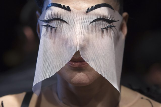 Fashionista Susanne Bartsch arrives before The Blonds 2015 collection show during New York Fashion Week in the Manhattan borough of New York February 18, 2015. Picture taken February 18, 2015. (Photo by Carlo Allegri/Reuters)