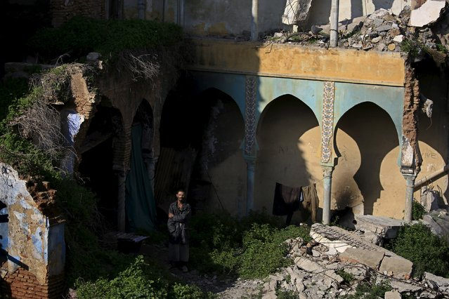 A man stands in a damaged moorish house in the old city of Algiers Al Casbah, Algeria December 13, 2015. (Photo by Zohra Bensemra/Reuters)