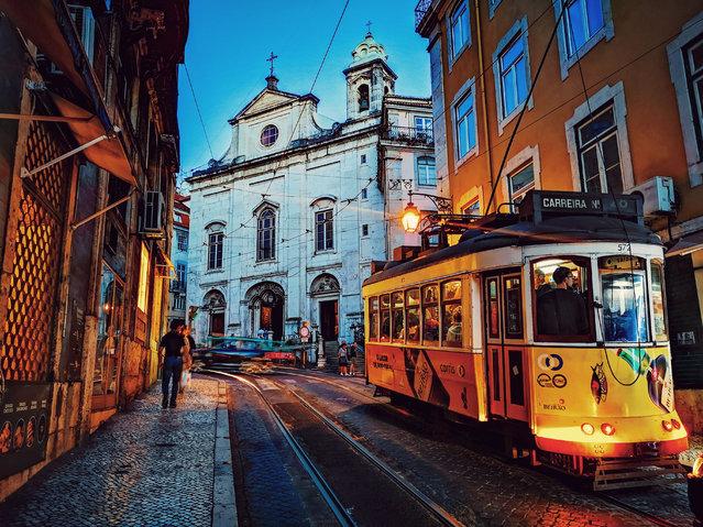 """I took this photo on Lisbon's Rua da Conceição. In the background is Igreja da Madalena"". (Photo by Amy Coyle/The Guardian)"