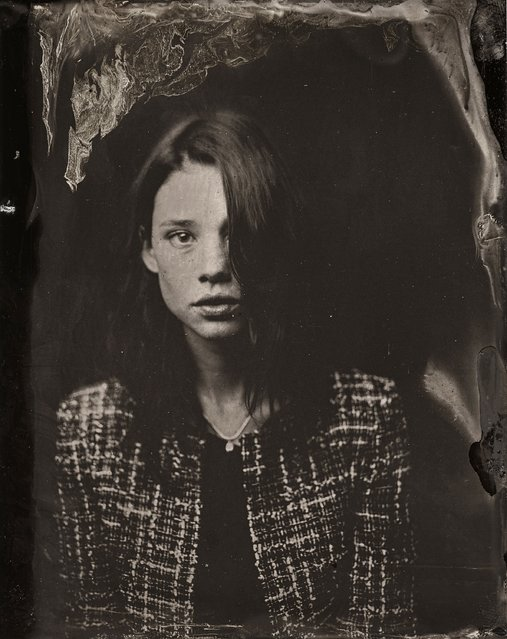 Astrid Berges-Frisbey   poses for a tintype (wet collodion) portrait at The Collective and Gibson Lounge Powered by CEG, during the 2014 Sundance Film Festival in Park City, Utah. (Photo by Victoria Will/AP Photo/Invision)