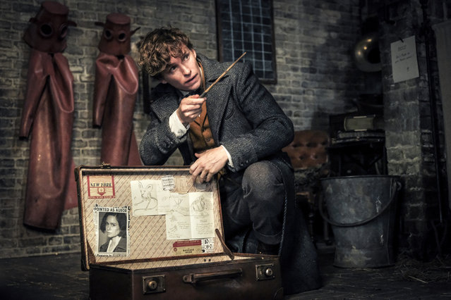 "This image released by Warner Bros. Pictures shows Eddie Redmayne in a scene from ""Fantastic Beasts: The Crimes of Grindelwald"". (Photo by Jaap Buitendijk/Warner Bros. Pictures via AP Photo)"