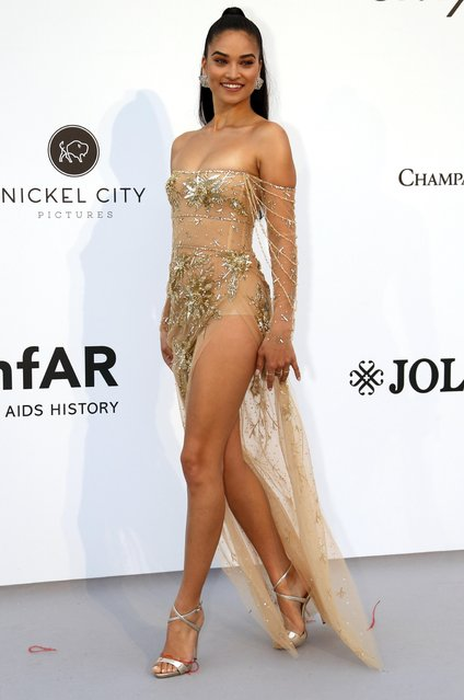 Shanina Shaik poses for photographers upon arrival at the amfAR, Cinema Against AIDS, benefit at the Hotel du Cap-Eden-Roc, during the 72nd international Cannes film festival, in Cap d'Antibes, southern France, Thursday, May 23, 2019. (Photo by Eric Gaillard/Reuters)