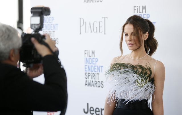 Actress Kate Beckinsale arrives at the 2017 Film Independent Spirit Awards in Santa Monica, California, U.S., February 25, 2017. (Photo by Danny Moloshok/Reuters)