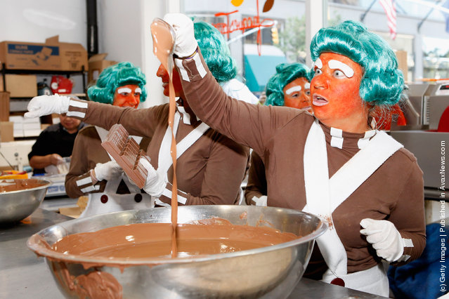 Chef Jacques Torres celebrates the 40th Anniversary of Willy Wonka & The Chocolate Factory with Oompa Loompas